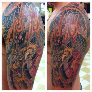 Dragon tattoo by Ben Parker
