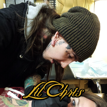 Lil Chris Piercing at Mantra