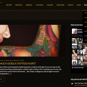 Mantra Tattoo website