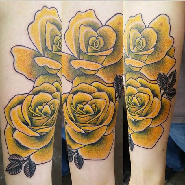yellow-roses – Best Tattoo & Piercing Shop & Tattoo Artists in Denver