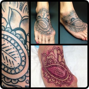 Foot tattoo by Geno