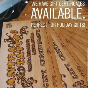 Mantra Tattoo Gift Certificates